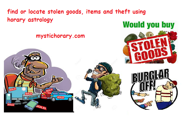 stolen goods or theft horary astrology