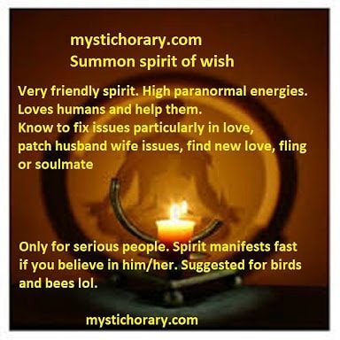 summon spirit of wish astrology magic