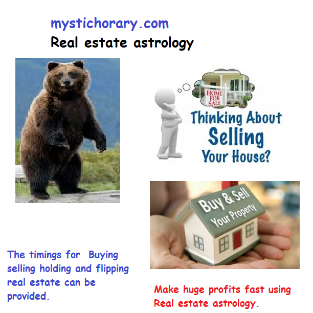 The timings forBuying selling holding and flipping real estate can be provided.