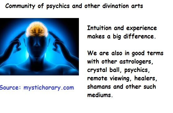 Community of psychics astrology and other divination arts